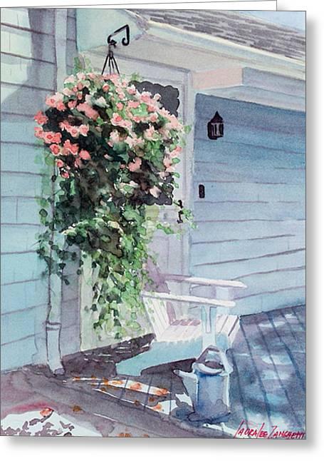 Morning Shadows Greeting Card by Laura Lee Zanghetti