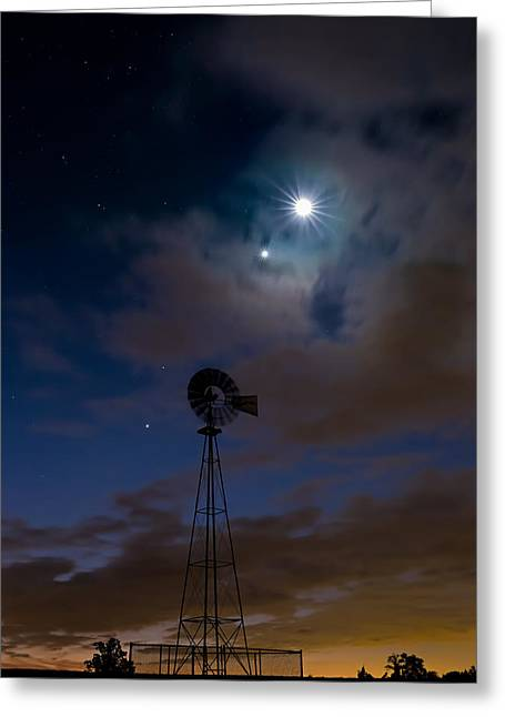 Morning Stars Greeting Card by Bill Wakeley