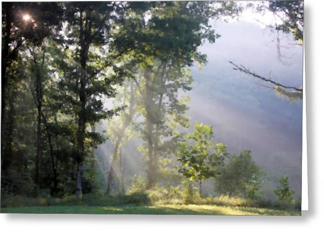 Morning Sun Greeting Card by Kristin Elmquist
