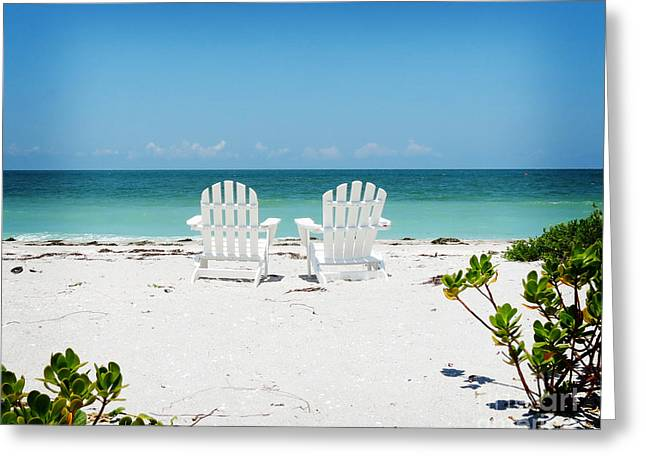 Beach White Greeting Cards - Morning View Greeting Card by Chris Andruskiewicz
