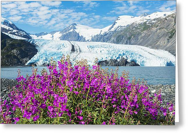 Morning View Of Portage Lake With View Greeting Card by Michael DeYoung