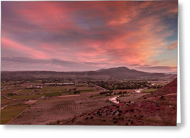 Haybale Greeting Cards - Morning View Over Emmett Valley Greeting Card by Robert Bales