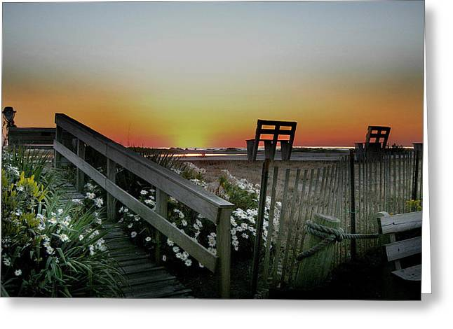 Byway Greeting Cards - Morning View  Greeting Card by Skip Willits