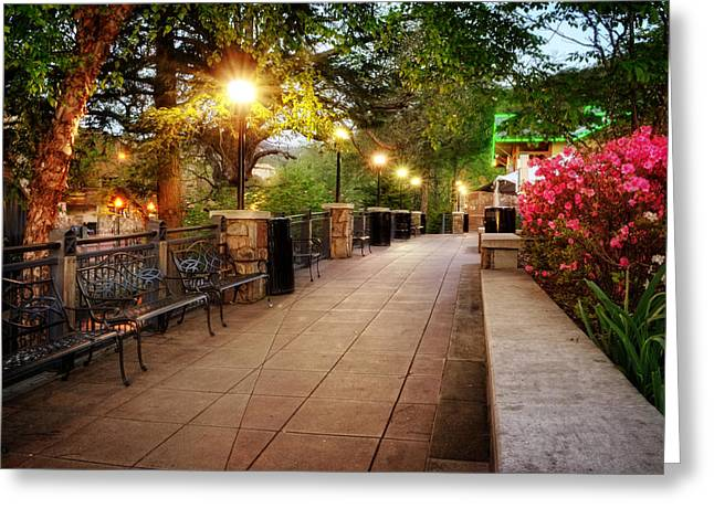 Morning Walk In Gatlinburg Tennessee Greeting Card by Greg Mimbs