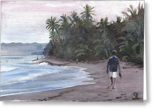 Puerto Rico Greeting Cards - Morning Walk Greeting Card by Sarah Lynch