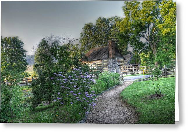 Mccormicks Farm Greeting Cards - Morning Walk Greeting Card by Todd Hostetter