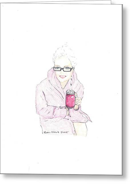 Purple Robe Greeting Cards - Morningbeetjuice Greeting Card by Ben Hart