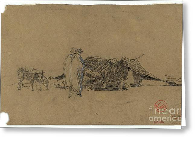 1874 Greeting Cards - Moroccan camp Greeting Card by MotionAge Designs