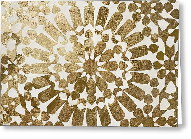 Moroccan Gold II Greeting Card by Mindy Sommers