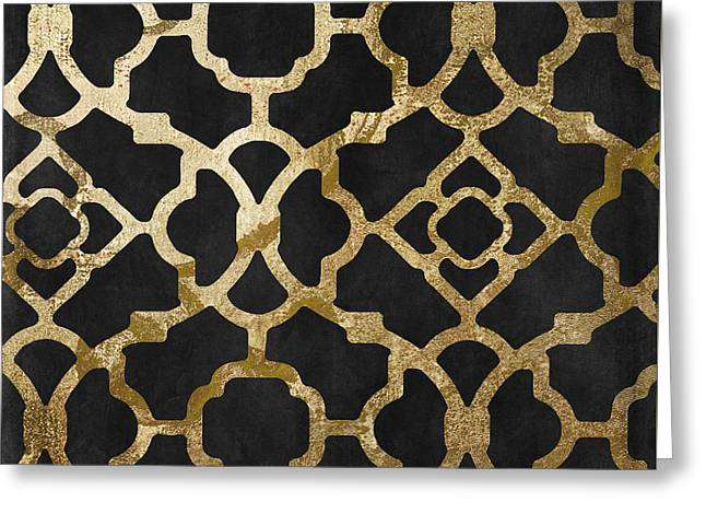 Moroccan Gold IIi Greeting Card by Mindy Sommers