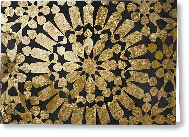 Moroccan Gold Iv Greeting Card by Mindy Sommers