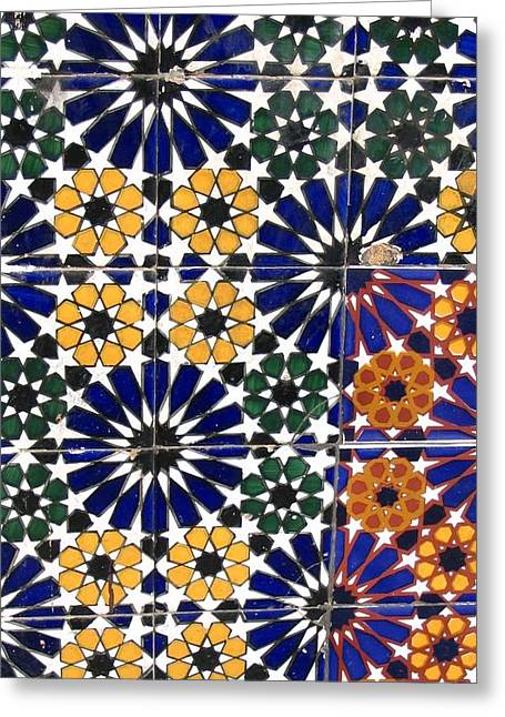 Yvonne Ayoub Greeting Cards - Moroccan Marrakesh Mosaic 01 Greeting Card by Yvonne Ayoub