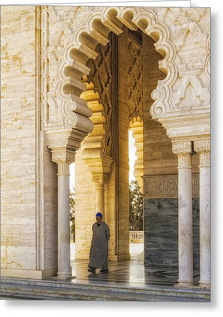 Rabat Greeting Cards - Moroccan Mausoleum Doorway Greeting Card by Lindley Johnson