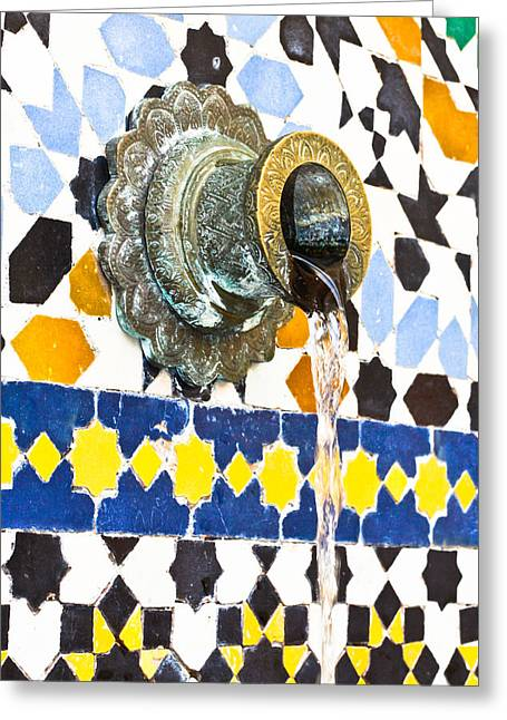 Ornate Pattern Greeting Cards - Moroccan tap Greeting Card by Tom Gowanlock