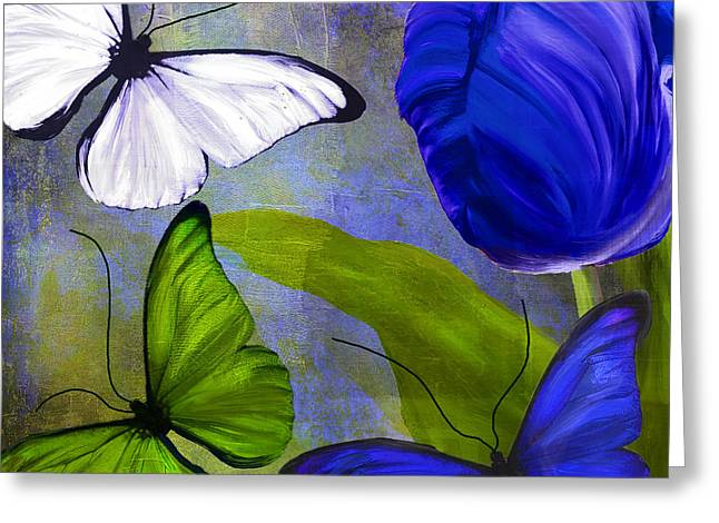 White Tulip Greeting Cards - Morphos I Greeting Card by Mindy Sommers