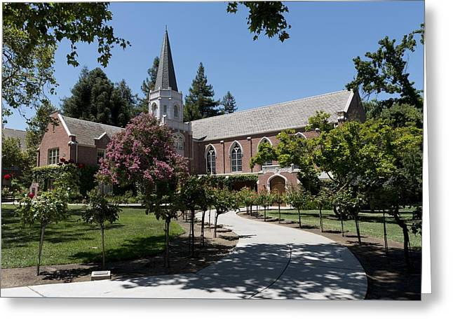 Morris Chapel - University Of The Pacific Greeting Card by Mountain Dreams