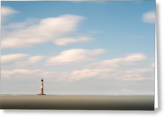 Morris Island Lighthouse Color Greeting Card by Ivo Kerssemakers