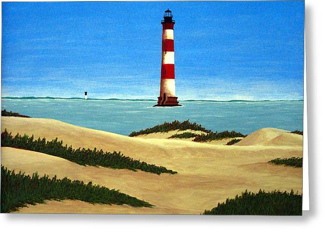 Landscape Art Greeting Cards - Morris Island Lighthouse Greeting Card by Frederic Kohli