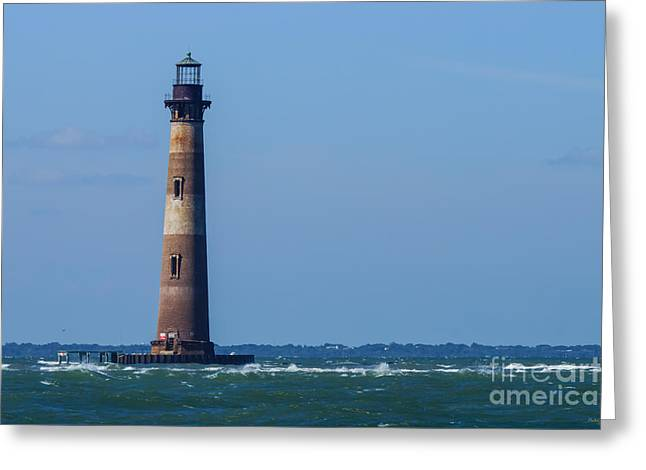 Ocean Images Greeting Cards - Morris Island Lighthouse Greeting Card by Jennifer White