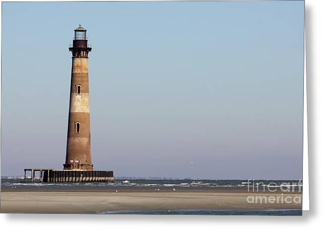 Charleston Greeting Cards - Morris Island Lighthouse South Carolina Greeting Card by Dustin K Ryan