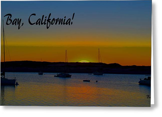 Morro Bay California Abstract Sunset Greeting Card by Barbara Snyder
