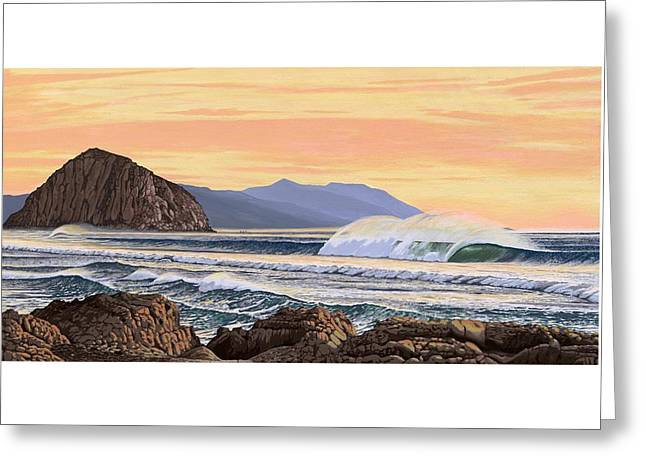 Morro Bay California Greeting Card by Andrew Palmer