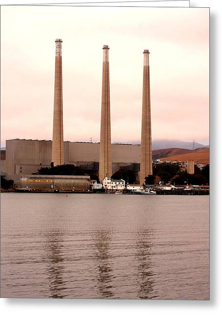 Morro Bay Ca Greeting Cards - Morro Bay Power Greeting Card by Art Block Collections