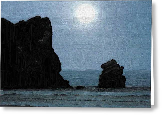 Morros Greeting Cards - Morro Bay Rock Greeting Card by Joe Bonita