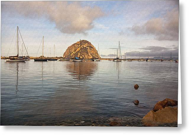 Morro Bay Greeting Cards - Morro Rocks Greeting Card by Sharon Foster