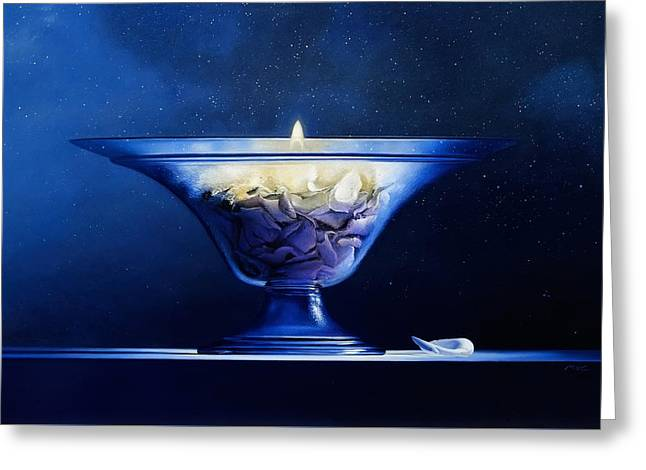 Hyperrealistic Greeting Cards - Mortality Greeting Card by Mark Van crombrugge