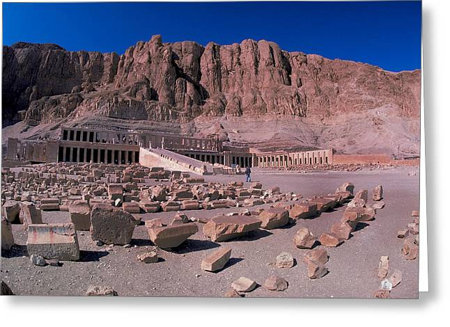 Civilization Greeting Cards - Mortuary Temple of Hatshepsut Greeting Card by Carl Purcell