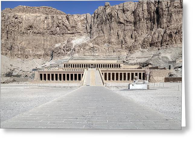 Hathor Greeting Cards - Mortuary Temple of Hatshepsut - Egypt Greeting Card by Joana Kruse
