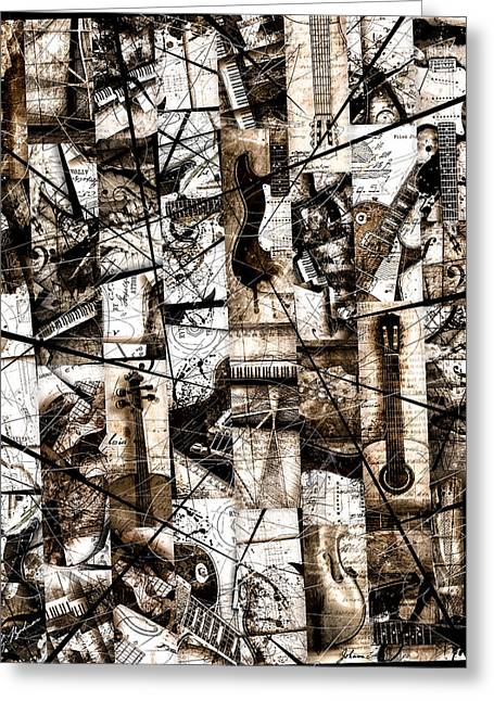 Les Digital Art Greeting Cards - Mosaic In A Major Greeting Card by Gary Bodnar