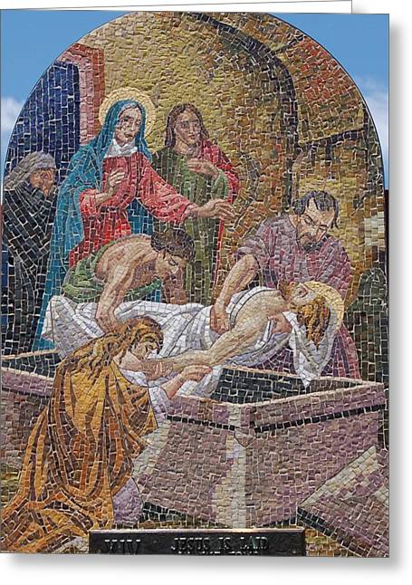 Rosary Greeting Cards - Mosaic Tablet XIV Greeting Card by Christopher James