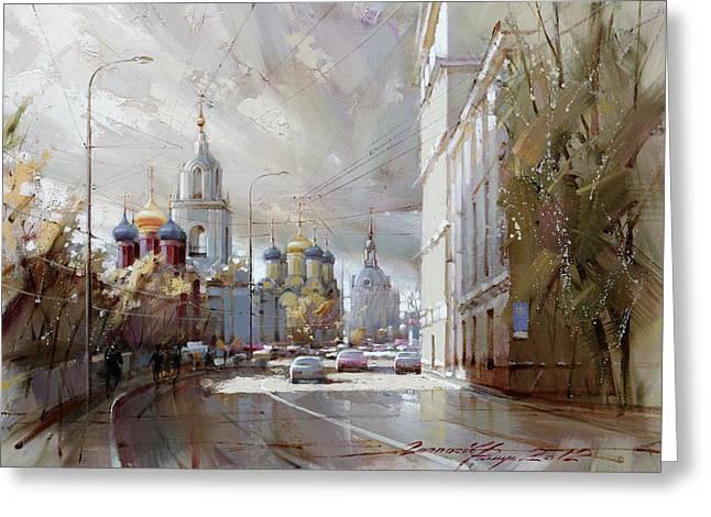 Moscow. Varvarka Street. Greeting Card by Ramil Gappasov