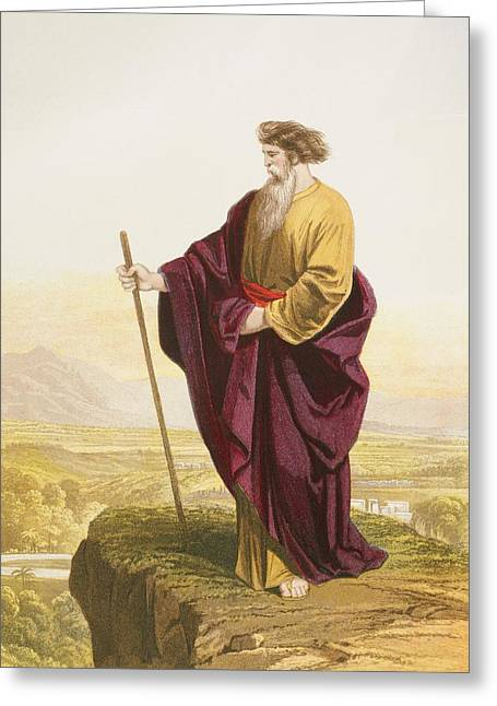Bible Greeting Cards - Moses Viewing The Promised Land At The Greeting Card by Ken Welsh