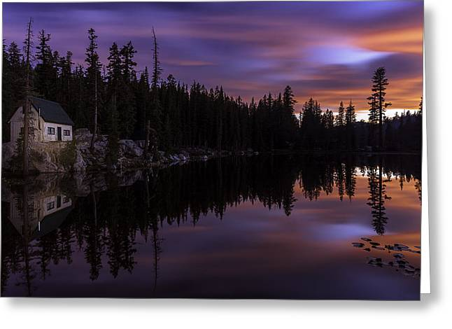 Ebbetts Pass Greeting Cards - Mosquito Lake Sunset Greeting Card by PhotoWorks By Don Hoekwater