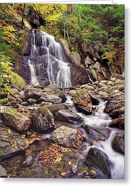 Fall Scenes Greeting Cards - Moss Glen Falls Greeting Card by Robert Clemens