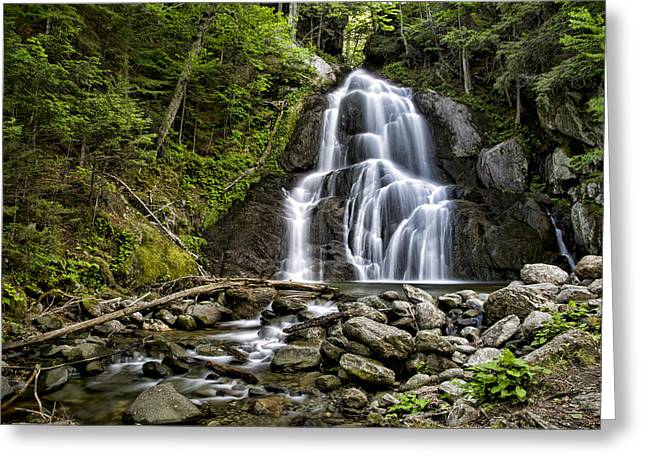 Beautiful Creek Greeting Cards - Moss Glen Falls Greeting Card by Stephen Stookey