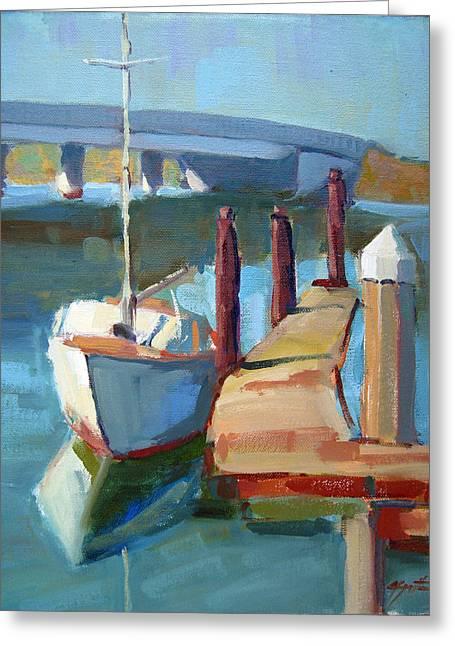 Moss Landing Boats Greeting Cards - Moss Landing Morning Greeting Card by Sandra Smith-Dugan