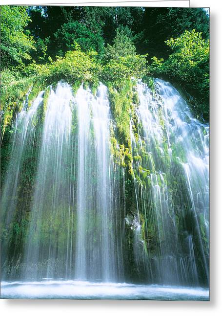 Pool Photography Greeting Cards - Mossbrae Falls Ca Usa Greeting Card by Panoramic Images