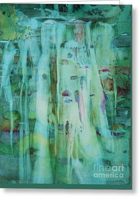 Mossy Falls Greeting Card by Elizabeth Carr