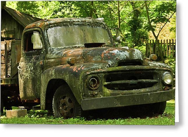 Mossy Green Truck 5 Greeting Card by Douglas Barnett