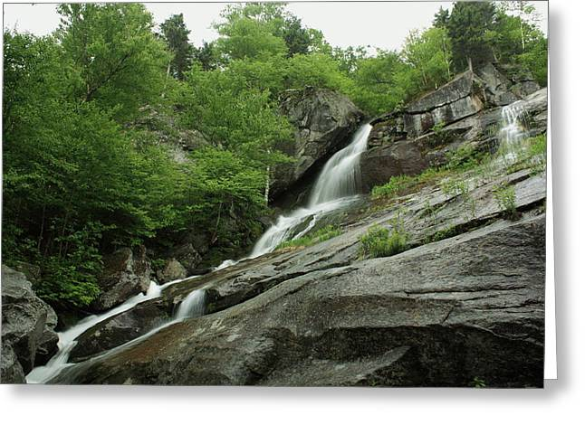 Maine Landscape Mixed Media Greeting Cards - Most Gorgeous Mountain Stream Greeting Card by Tom Johnson