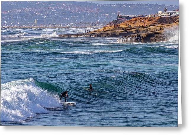 Point Loma Greeting Cards - Most Perfect Rough Seas Greeting Card by Peter Tellone