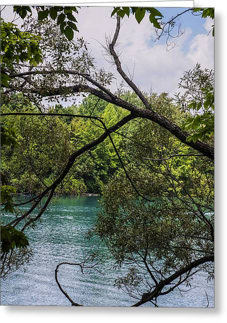 Blue Green Water Greeting Cards - Mostly Sunny Greeting Card by Charles Cady