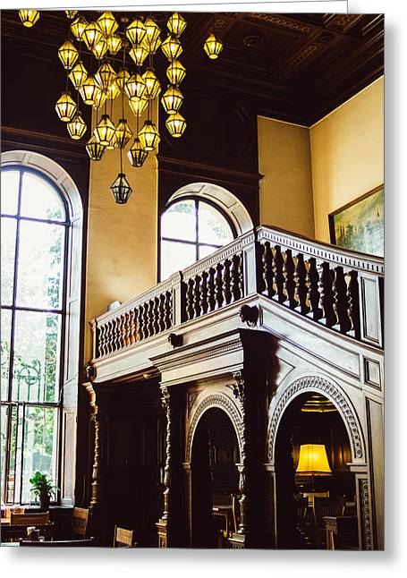 Wooden Stairs Greeting Cards - Moszna Interior Greeting Card by Pati Photography