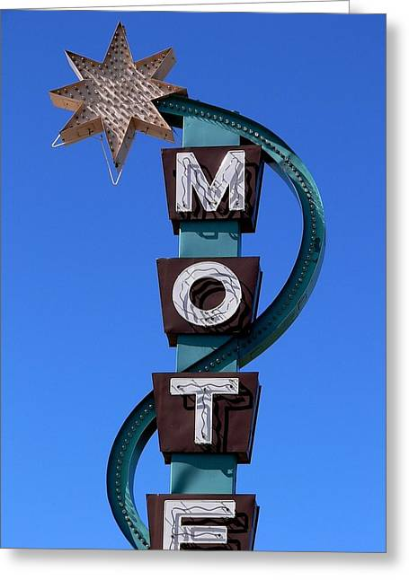 Roadside Art Greeting Cards - Motel Greeting Card by David Gianfredi
