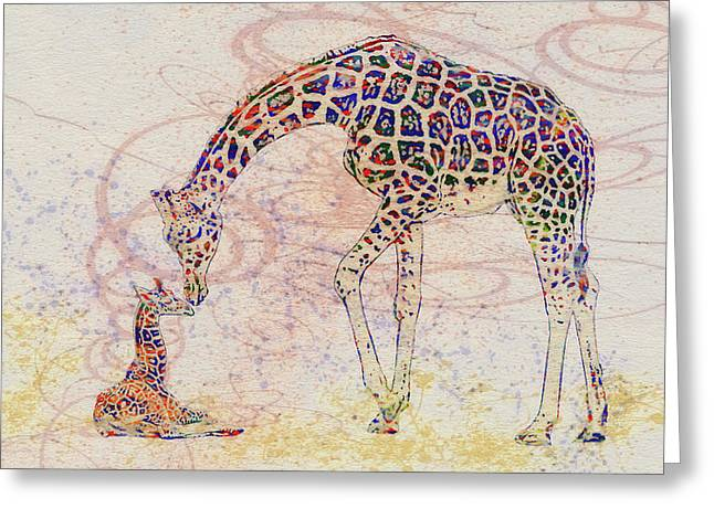 Mother And Child 2 Greeting Card by Jack Zulli