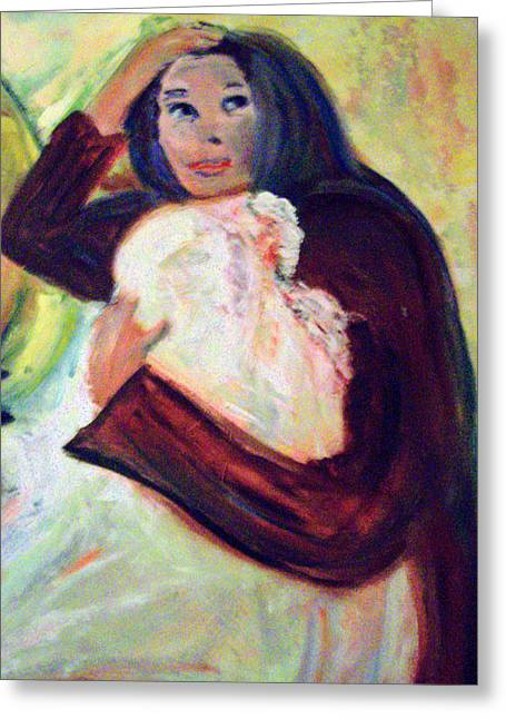 Patricia Taylor Greeting Cards - Mother and Child Greeting Card by Patricia Taylor
